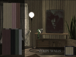 Sims 4 — Stripe Walls by RemusSirion — Stripe Wall Preview picture was done in game with reshade applied 7 swatches