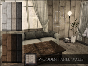 Sims 4 — Wooden Panel Walls by RemusSirion — Wooden Panel Walls Preview picture was done in game with light reshade