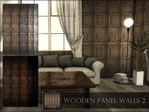 Sims 4 — Wooden Panel Walls 02 by RemusSirion — Wooden Panel Walls 02 Preview picture was done in game with light reshade
