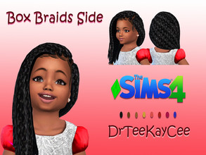 Sims 4 — Box Braids Side for Toddler by drteekaycee — This is a converted adult female style now ready for your toddler.