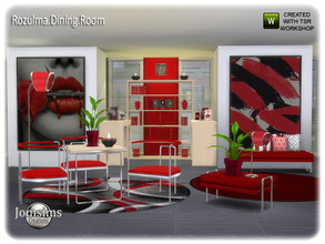 Sims 4 — Rozulma Dining room by jomsims — Rozulma Dining room for your Sims. more modernity and clean line for this new