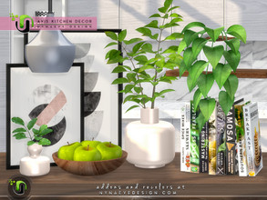 Sims 4 — Avis Decor by NynaeveDesign — Transform your sim's kitchen into a space that looks and feels comfortable to be