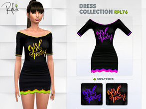 Sims 4 — DRESS COLLECTION RPL76 by RobertaPLobo — :: 4 swatches :: New Mesh :: All lods :: Age: Adult :: Occult: ALL ::