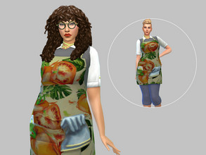 Sims 4 — Tomato Garden Smock - Base Game by TulipSniper — Tomato smock for all your gardening needs!