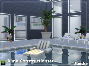Sims 4 — Alma Constructionset Part 4 by Mutske — This is fourth part of the Alma Construction. With more windows in all