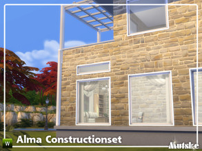 Sims 4 — Alma Constructionset Part 5 by Mutske — This is fifth part of the Alma Construction. With more windows in all