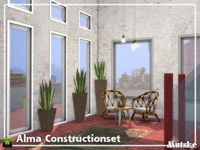 Sims 4 — Alma Constructionset Part 6 by Mutske — This is sixth part of the Alma Construction. With more windows in all
