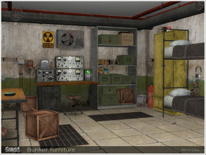 Sims 4 — Bunker furniture by Severinka_ — A set of furniture for the design of the bunker in the style of