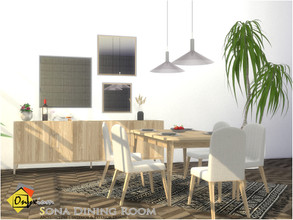 Sims 4 — Sona Dining Room by Onyxium — Onyxium@TSR Design Workshop Dining Room Collection | Belong To The 2020 Year Set
