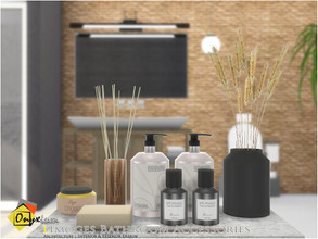 Sims 4 — Limoges Bathroom Accessories by Onyxium — Onyxium@TSR Design Workshop Dining Room Collection | Belong To The