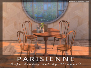 Sims 4 — Parisienne Cafe dining set by Winner9 — Dining set made especially for the cafe, restaurants, bars. Can be used