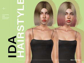 Sims 3 — LeahLillith Ida Hairstyle by Leah_Lillith — Ida Hairstyle All LODs Smooth Bones Custom CAS thumbnail
