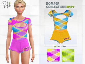 Sims 4 — Romper Collection RPL77 by RobertaPLobo — :: 4 swatches :: New Mesh :: All lods] :: Found in Jumpsuits :: Age: