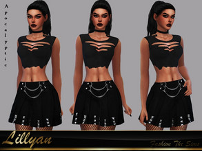 Sims 4 — Skirt Nanda Apocalyptic  by LYLLYAN — Skirt in 1 model. Base game.
