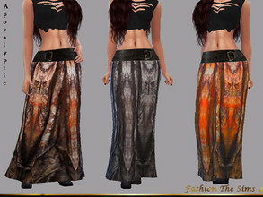 Sims 4 — Pandora Skirt  Apocalyptic by LYLLYAN — Skirt in 4 colors . Base game.