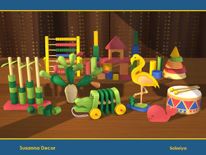 Sims 4 — Susanna Decor by soloriya — A set of decorative toys for your kids rooms. Includes 10 objects, has 3-5 color