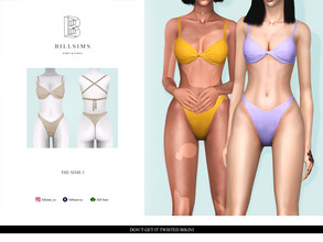 Sims 3 — Don't Get It Twisted Bikini by Bill_Sims — YA/AF Swimwear/Sleepwear Available for Maternity Recolorable - 2