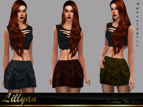 Sims 4 — Sabrina Skirt Apocalyptic by LYLLYAN — Skirt in 6 colors . Base game.