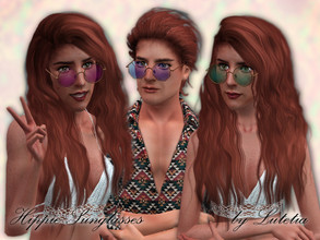 Sims 3 — Hippie Sunglasses by Lutetia — A cute pair of colored retro-style glasses (2 versions) ~ Teen to Elder unisex ~