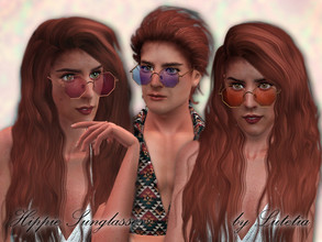 Sims 3 — Hippie Sunglasses - Version 2 by Lutetia — A cute pair of colored retro-style glasses - octagon version ~ Teen