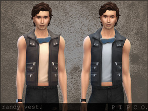 Sims 4 — pipco - randy vest. by Pipco — a stylish vest with goggles. 5 swatches base game compatible ea mesh edit all