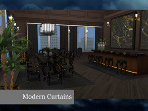 Sims 4 — Modern Curtains by janek04 — Modern Dark Curtains from Marble Series by JB!