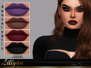 Sims 4 — Lipstick Cassandra Apocalyptic by LYLLYAN — Lipstick in 5 colors . Base game.