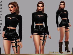 Sims 4 — Shorts Sara Apocalyptic by LYLLYAN — Shorts in 1 model. Base game.