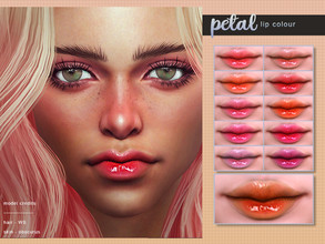 Sims 4 — [ Petal ] - Lip Colour by Screaming_Mustard — A super glossy lip colour in bright shades. With custom thumb
