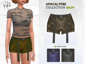 Sims 4 — Apocalypse Collection RPL79 by RobertaPLobo — :: Shorts :: 4 swatches :: New Mesh :: All lods :: Age: Adult