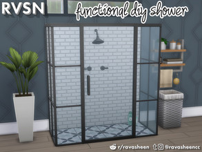 Sims 4 — Keep It Clean DIY Shower Set by RAVASHEEN — Now your simmies can keep it clean their way! The Keep It Clean DIY