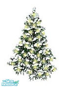 Sims 1 — Christmas Outdoor Tree by capricce — Christmas outdoor tree with white lights. Don't put it too close to a wall,