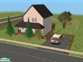 Sims 2 — House 16 by Vanilla_Love — This house is fully furnished with all maxis content, and is a replica of my own