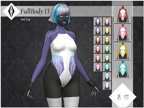 Sims 4 — FullBody 13 plus Top by AleNikSimmer — My first attempt at futuristic clothes. It's a bodysuit that can be found