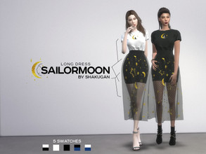 "Sims 4 — Long dress ""SailorMoon"" by Alexa_Catt — Long Dress From teen to elder 5 swatches HQ compatible"