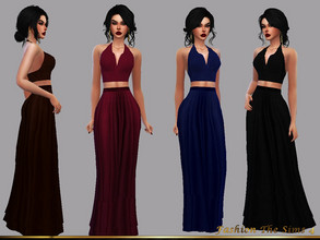 Sims 4 — Style Tamara by LYLLYAN — Skirt long and top in 5 colors. New mesh made from EA meshes. Base game.