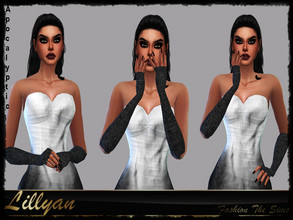 Sims 4 — Gloves Laura Apocalyptic by LYLLYAN — Gloves in 3 colors. Base game.