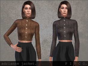 Sims 4 — pipco - adrianne jacket. by Pipco — a stylish cropped leather jacket. 6 swatches base game compatible new mesh