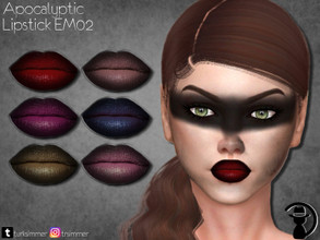 Sims 4 — Apocalyptic Lipstick EM02 by turksimmer — 6 Swatches Works with all of skins Custom Thumbnail All ages For;