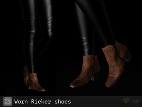 Sims 3 — Worn Rieker shoes by Shushilda2 — - New mesh - 2 recolorable channels - HQ-texture (2048x2048)