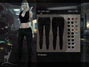 Sims 4 — DSF PANT IGNEA by DanSimsFantasy — Inspired by igneous rock and dedicated to the strong and mysterious woman.