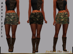 Sims 4 — Skirt Silvia Apocalyptic by LYLLYAN — Skirt in camouflage print in 4 shades.