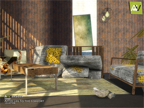 Sims 4 — After Life To The Comfort by ArtVitalex — - Extinction Living Room - ArtVitalex@TSR, May 2020 - All objects