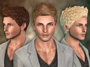 Sims 3 — #63 - Male Hairstyle - Sims 3 by Cazy — Male hairstyle for Teen through Elder.