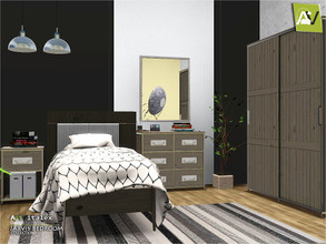 Sims 3 — Jarvis Bedroom by ArtVitalex — - Jarvis Bedroom - ArtVitalex@TSR, May 2020 - All objects are recolorable -