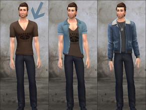 Sims 4 — Uncharted 4 - Sam Drake's shirt (1)  by Pandeajo — - Sam Drake's T-shirt from Uncharted 4: A Thief's End - Based