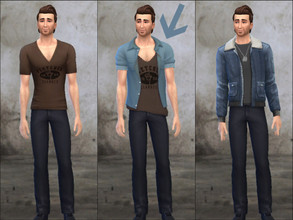 Sims 4 — Uncharted 4 - Sam Drake's shirt (2) by Pandeajo — - Sam Drake's shirt from Uncharted 4: A Thief's End - Based on