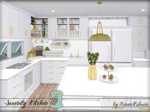Sims 4 — Serenity Kitchen by ArwenKaboom — Serenity Kitchen main set. Scandinavian and Ikea inspired kitchen for your