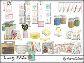 Sims 4 — Serenity Kitchen Decorations by ArwenKaboom — This is the deco part of Serenity Kitchen. This set contains: -