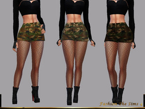 Sims 4 — Shorts Paula by LYLLYAN — Shorts in camouflage print in 4 shades.